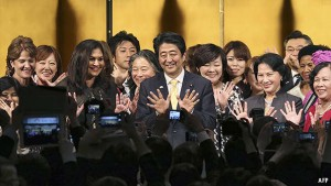 Abe's ally urges women to have more babies
